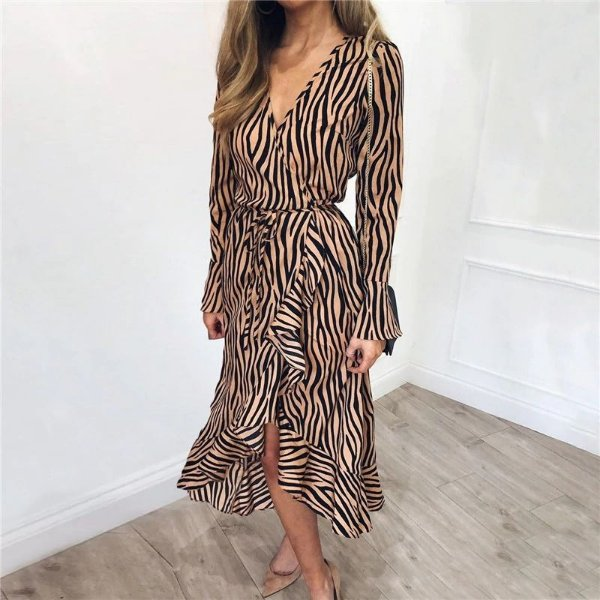 Vestido Chiffon Zebra - 3 cores