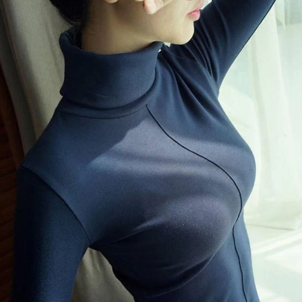Blusa Gola Alta Básica - 7 cores