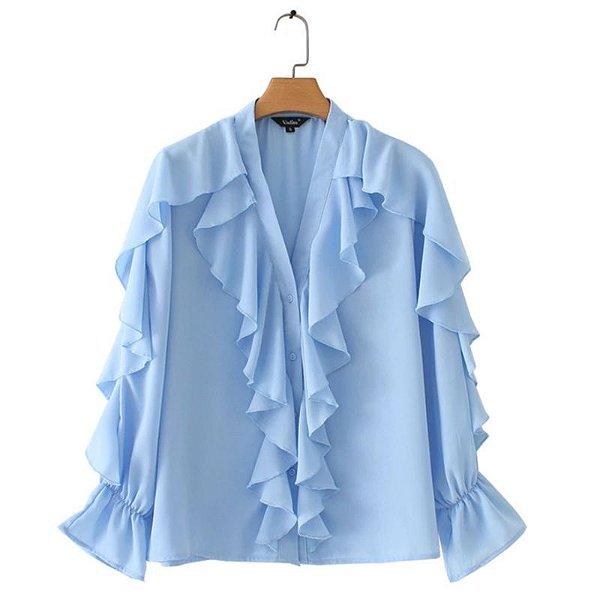Camisa com Babados - 2 cores