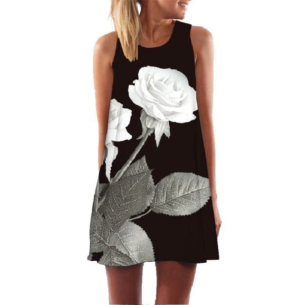 Vestido White Rose