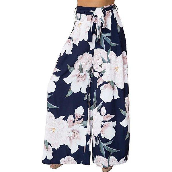 Calça Pantalona Lírios - 2 cores