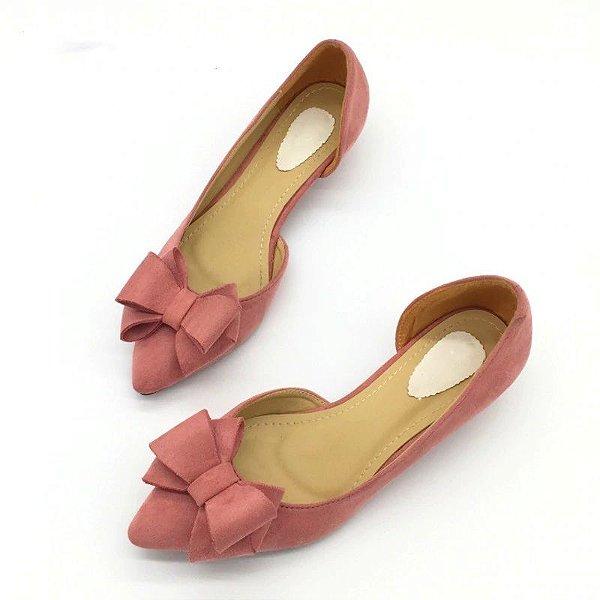 Sapato Salto Baixo Carretel - 3 cores