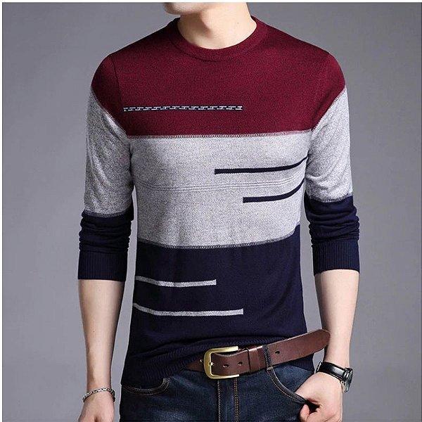 Suéter Faixas - 2 cores