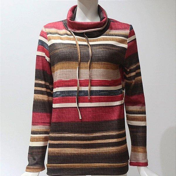 Blusa Listrada Gola Boba - 2 cores