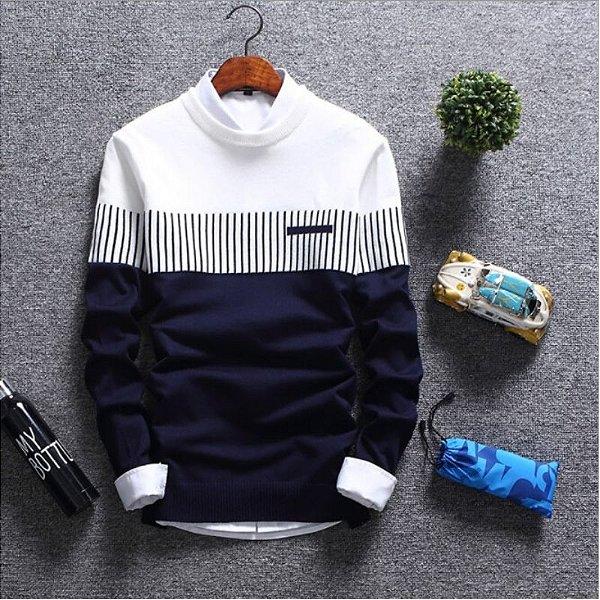 Suéter Bicolor - 3 cores