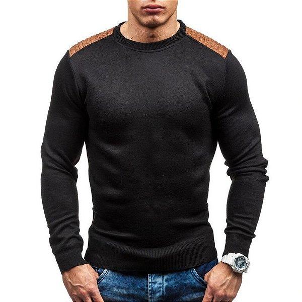 Suéter com Recortes Camurça - 3 cores