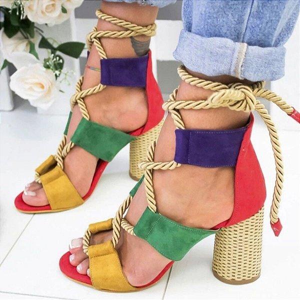 Sandália Multicolor Cordas - 3 cores