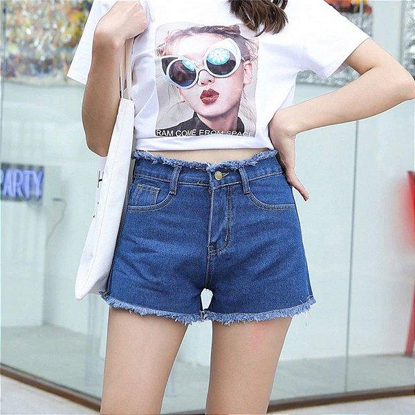 Short Jeans Desfiado - 2 cores
