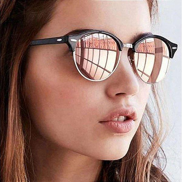 Óculos de Sol Clubmaster Redondo - 5 cores
