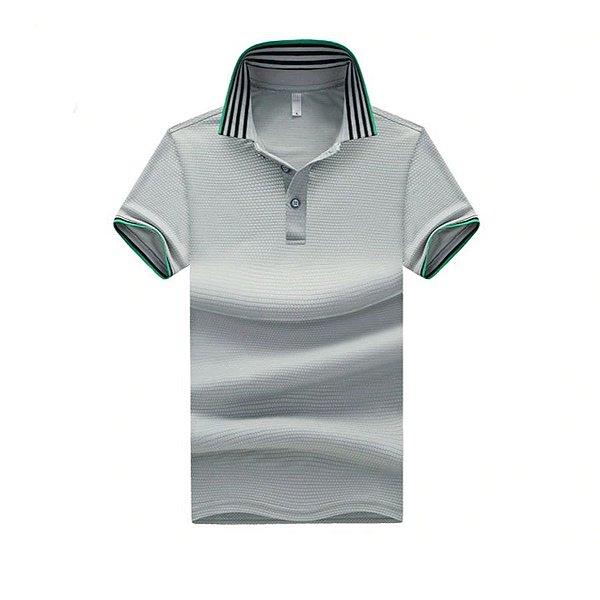 Camiseta Polo Gola Listrada - 4 cores