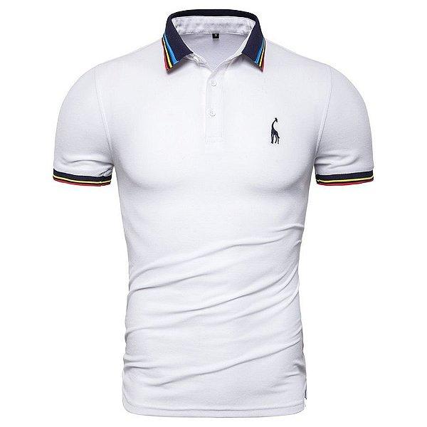 Camiseta Polo Gola Colorida - 7 cores