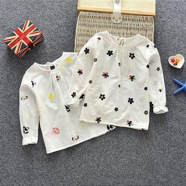 Blusa Manga Longa Estampada - 2 cores