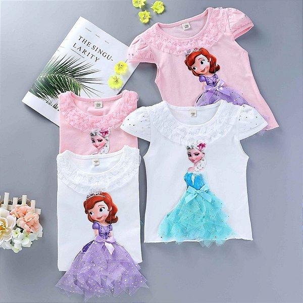 Blusa Princesas - 4 cores
