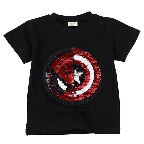 Camiseta Aranha Duas Faces - 5 cores