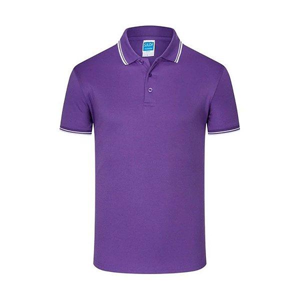 Camiseta Polo Lisa Slim Fit - 7 cores