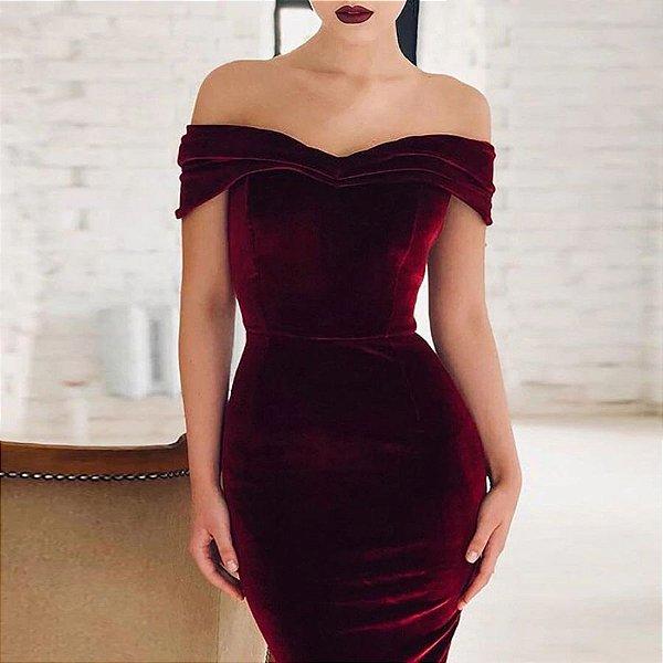 Vestido Lápis Ombro a Ombro - 3 cores