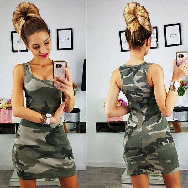 Vestido Camuflagem - 5 cores
