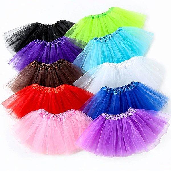 Saia Tutu Princesa Girls - 8 cores