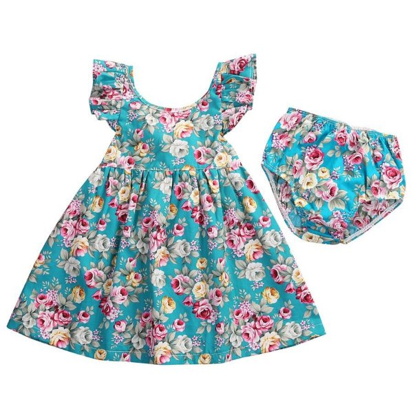 Vestido Soltinho Floral + Calcinha