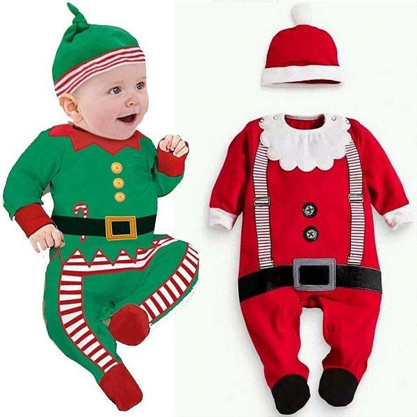 Macacão Natal Papai Noel - 2 estampas