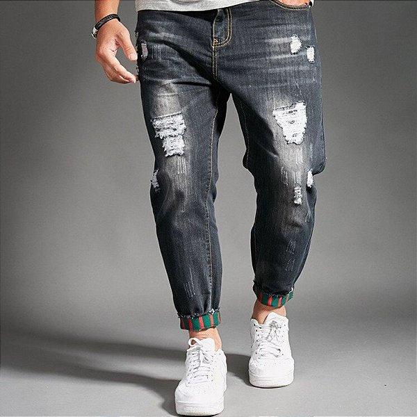 Calça Jeans Destroyed Masculina - 2 cores