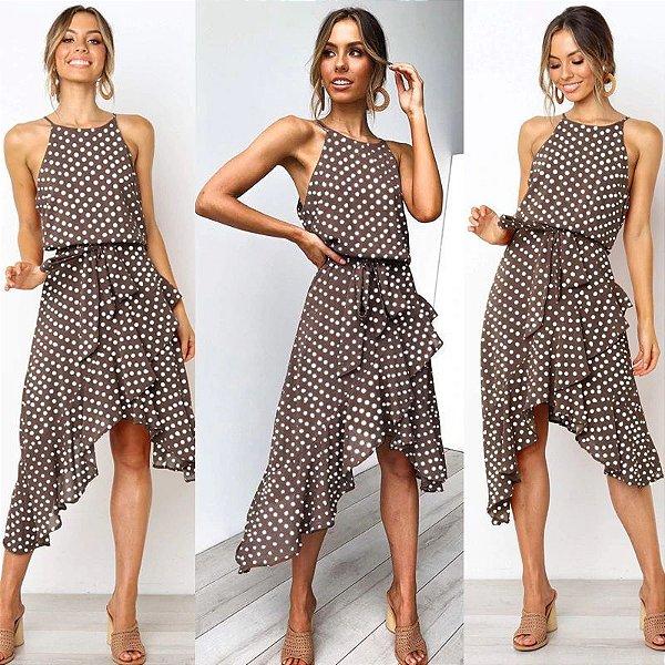 Vestido Trapézio Assimétrico - 3 cores