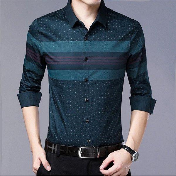 Camisa Poá e Listras - 3 cores