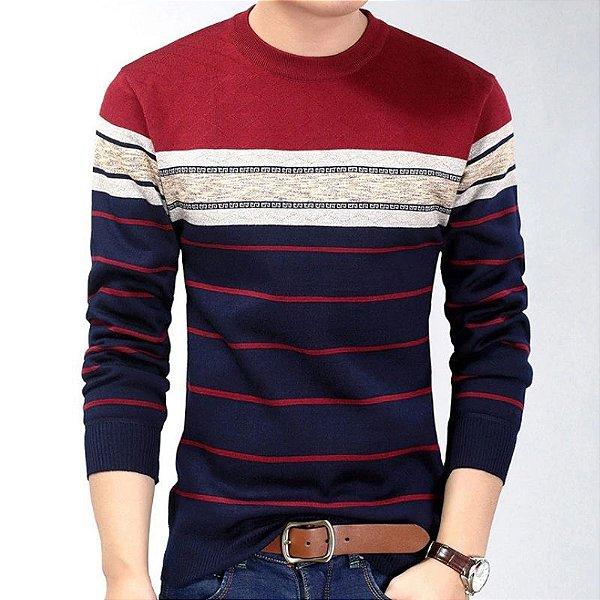 Suéter Masculino Listras - 3 cores