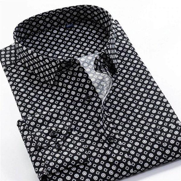 Camisa Social Vintage Plus Size - 2 cores