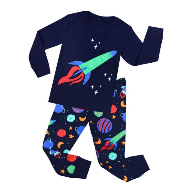 Pijama Estampado Manga Longa - 5 cores