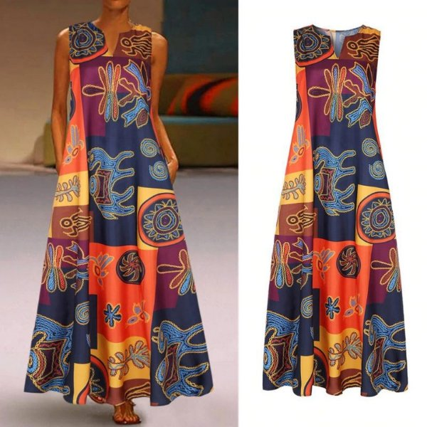 Vestido Maxi Estampado - 2 cores