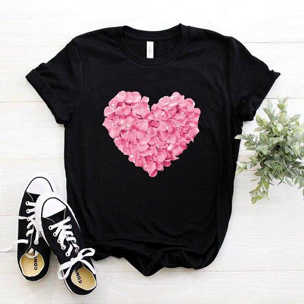 Blusa Coração Pétalas - 2 cores