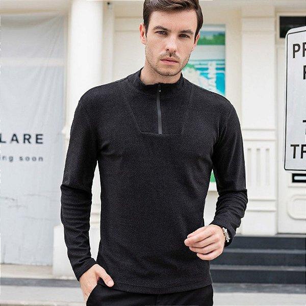 Suéter com Zíper - 4 cores