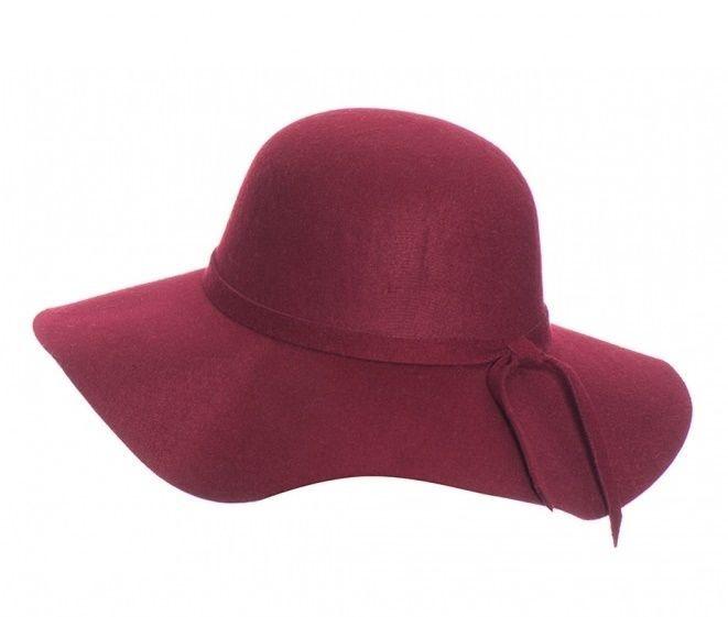 Chapéu Floppy de Feltro Vinho