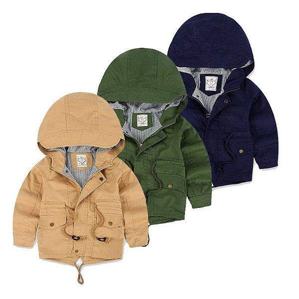 Jaqueta Infantil com Bolsos - 3 cores