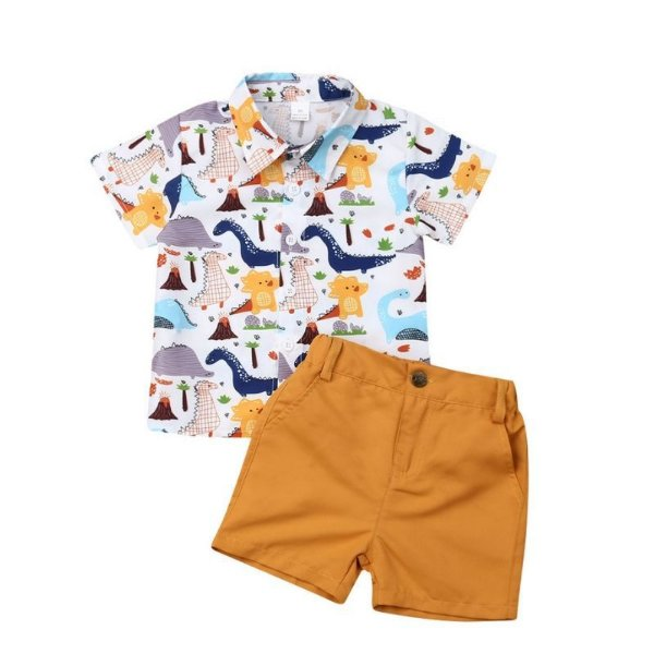 Conjunto Camisa Dinossauros
