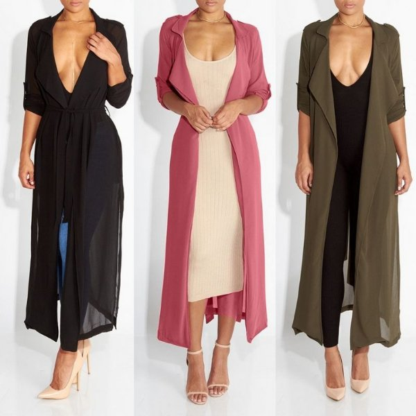 Kimono Longo Amarração - 3 cores