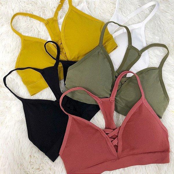 Top Decote Nadador - 5 cores