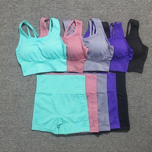 Conjunto Top e Short Cós Alto - 5 cores