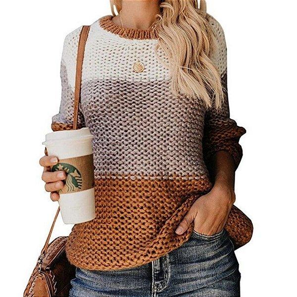 Suéter Tricô Colors - 5 cores