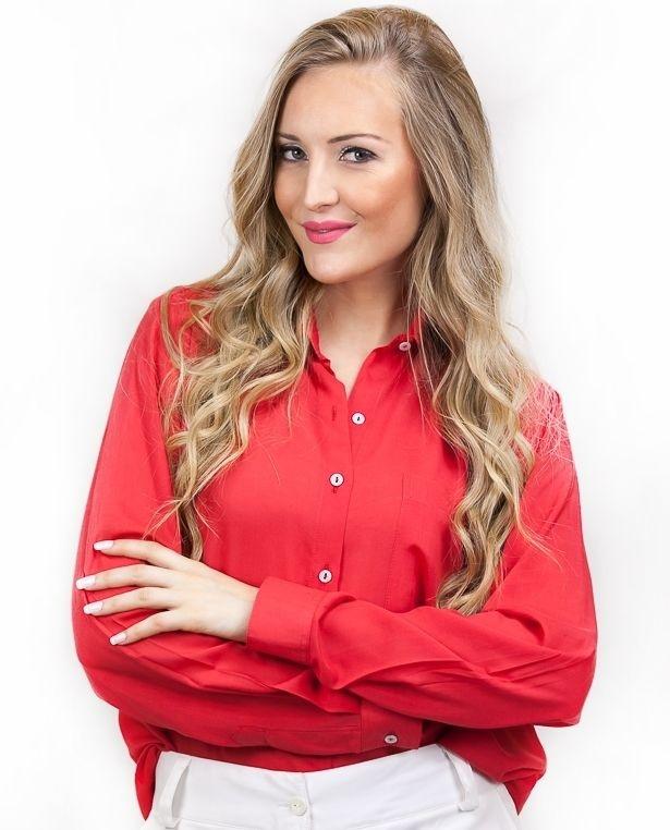 Camisa de Viscose Vermelha