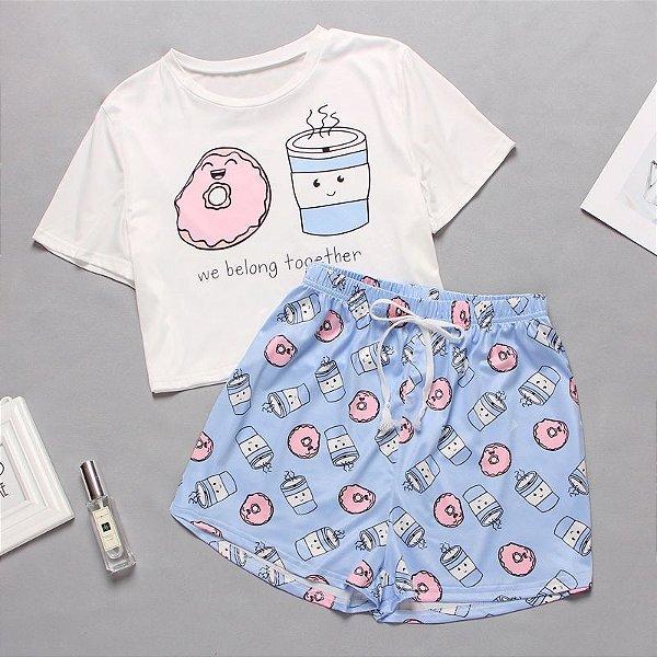 Pijama Estampas - 5 cores