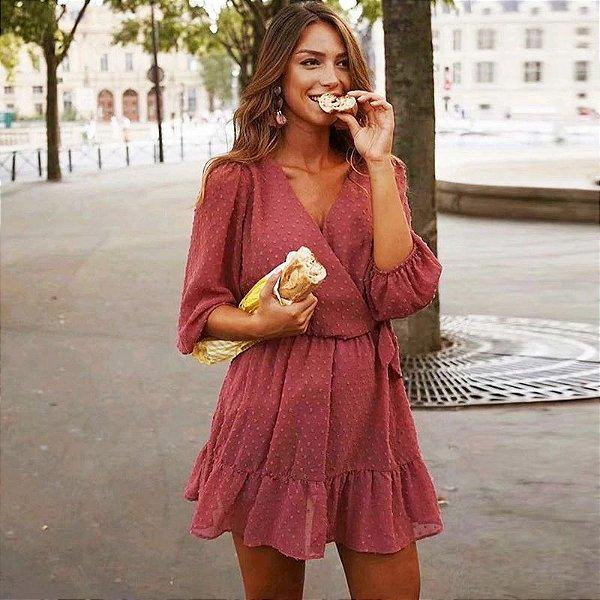 Vestido Soltinho Transpassado - 4 cores