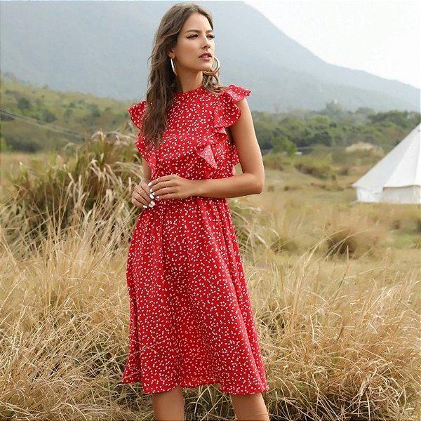Vestido Red Estampa Corações