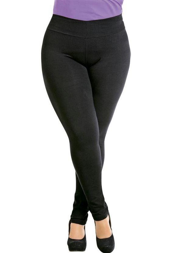 Calça Legging Preta Plus Size