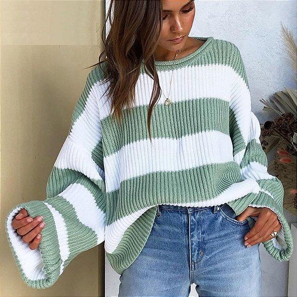 Suéter Solto Faixas - 4 cores
