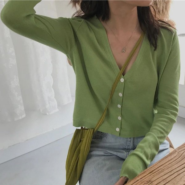 Cardigan Cropped Decote - 3 cores
