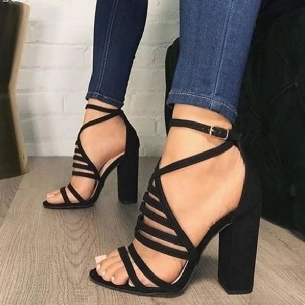 Sandália Salto Strap - 2 cores