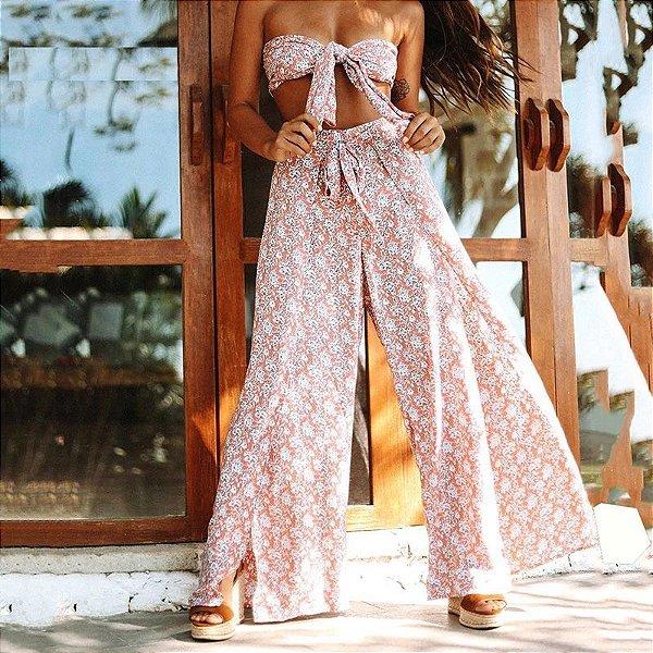 Conjunto Floral Pantalona