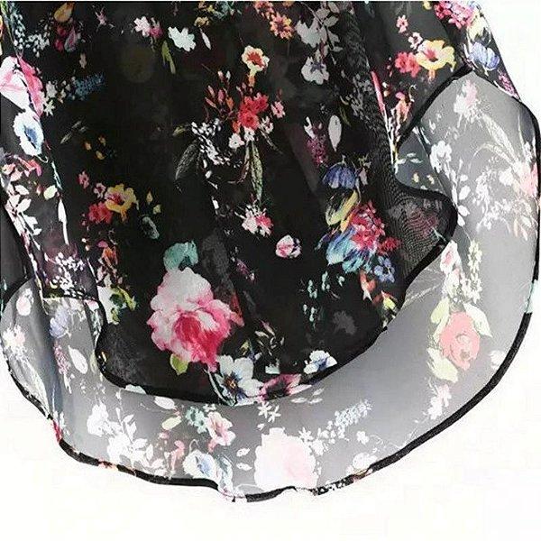 Kimono Floral Transparência - 2 cores
